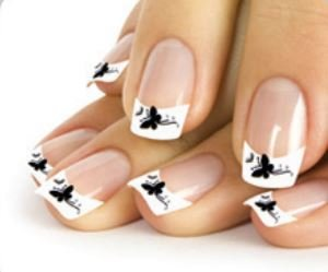 Stickers ongles - papillons noirs