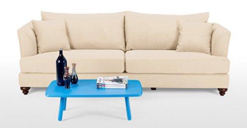 FabHomeDecor Maharaja Three Seater Sofa (cream)