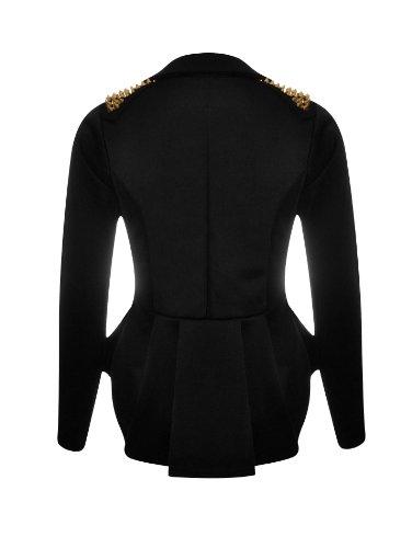 Nouveaux Femmes Grande Taille transitoire de veste de blazer femmes cloutés taille 36-52 Wine