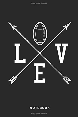 LOVE Notebook: 6x9 Blank Lined Football Composition Notebook, Diary or Journal for Coaches, Players, Scouts, Managers and Fans por iHoop Publishing