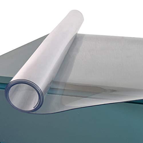 Tischschutz Transparente PVC Tischdecke 1,7mm - Tischfolie Schutzfolie Glasklar Folie Lebensmittelgeeignet - Breite 80cm x Länge 120cm