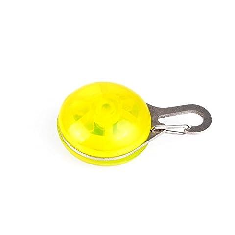 Médaille LED Lumineux Pendentif de Collier pour Animaux Chien Chat-Jaune
