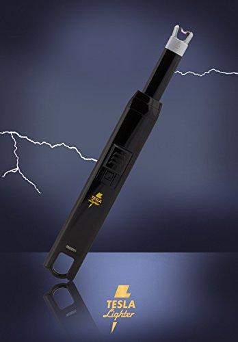 312mHYV21dL - TESLA Lighter T07 | elektronisches USB Lichtbogen Stab Feuerzeug, Schwarz