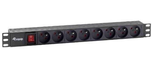 Preisvergleich Produktbild Equip Steckdosenleiste 48, 3 cm (19 Zoll) 1HE (8-fach,  CEE 7 / 5 mit Schalter,  1, 8m)