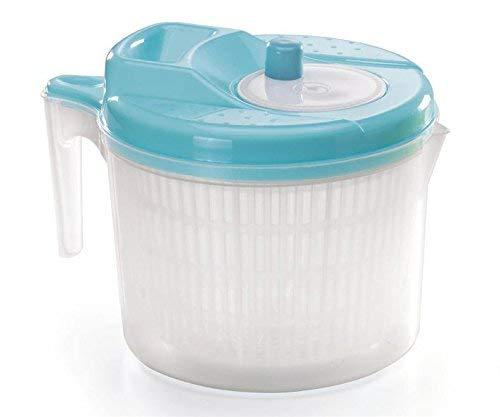 Tosend centrifuga per insalata grande litri 6 con manico e beccuccio misure lava insalata centimetri 20x27x20h disponibile in vari colori