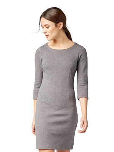 TOM TAILOR für Frauen Kleider & Jumpsuits Kleid in Melange-Optik Alloy Grey Melange, 44