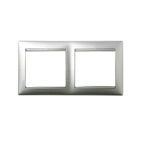 legrand-valena-770152-vl-placa-2ele-hor-aluminio