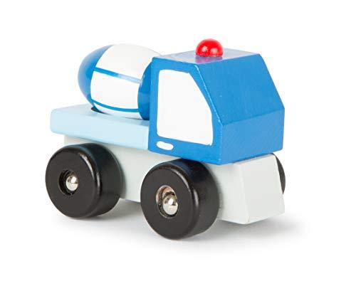 Small Foot Company - Juguete hormigonera Hecha de Madera, certificada FSC 100%, en Forma Apta para niños, con mezcladora de concreto Que se Mueve, empujando el vehículo adelante y hacia atrás promoverá Las Habilidades motoras, Multicolor by Legler 11139