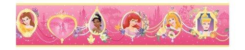 York Wallcoverings Disney Kids DK5954BD Princess Frames Border, LT Pink/Dark Pink by York Wallcoverings