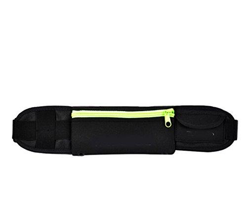 Outdoor Slim Enge Passform Taille Tasche Gelb - gelb
