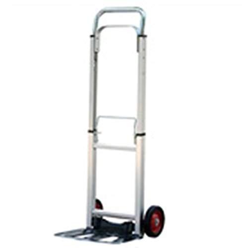 appbarer Handwagen-Aluminiumlegierungs-Trolley-Auto-Gepäckwagen-Einkaufswagen-Einkaufswagen Startseite Kleiner Wagen Mini-Handwagen-LKW-Anhänger-Wagen kann tragen 90 Kg Senden Sie ()