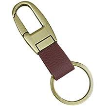 lifeyz Clip auf Gürtelschlaufen Hose Schnalle Leder Schlüsselanhänger Auto Schlüsselanhänger Ring Schlüssel, braun