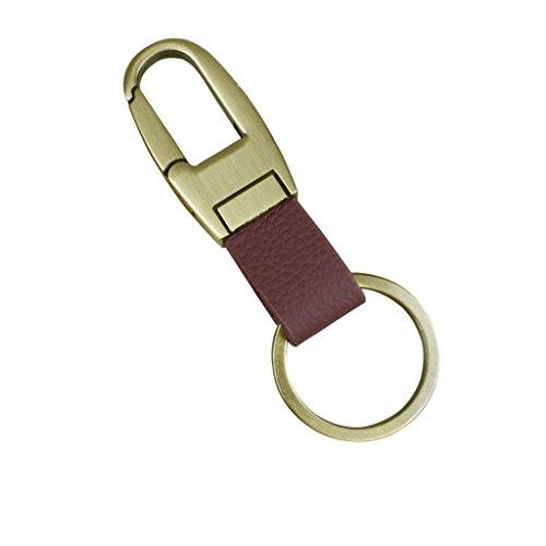 Lifeyz Schlüsselanhänger-Clip auf Gürtelschlaufe, Hose, Leder, Autoschlüssel, braun