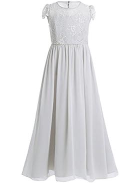 YiZYiF Festliches Mädchen Kleider Lange Brautjungfern Kleider Hochzeit Party Prinzessin Kleid Festzug Gr. 104...