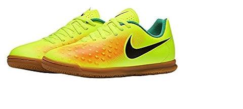 Nike Jungen Jr Magistax Ola Ii Ic Fußballschuhe, Amarillo (Volt/Black-Total Orange-Clear Jade), 33 EU