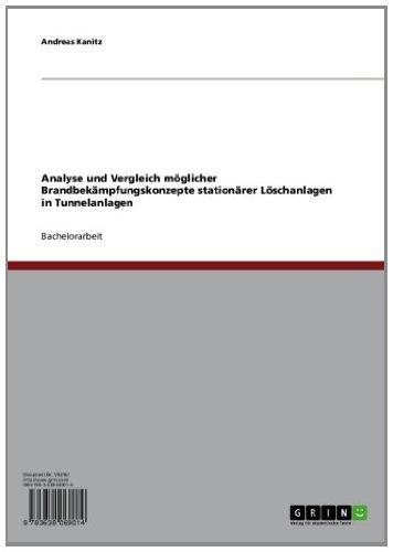 Analyse und Vergleich möglicher Brandbekämpfungskonzepte stationärer Löschanlagen in Tunnelanlagen