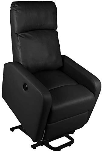 Ws design poltrona elettrica samoa con massaggio relax alzapersona ecopelle anziani alza persona reclinabile (nero)