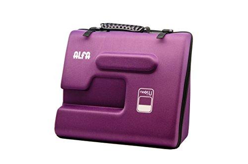 Alfa NEXT TO U - Funda semirrígida para máquina de coser, color mora