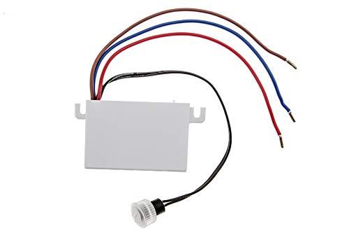 HUBER Twilight 2, Dämmerungsschalter, weiß, Einbau, Dämmerungssensor einstellbar - Leuchtreklame Uhr