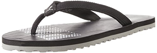 Puma Unisex Miami 6 DP Black and Gray Violet Rubber Flip Flops Thong Sandals - 6 UK  available at amazon for Rs.335