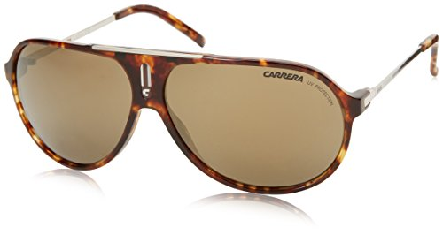 Carrera Hots Aviator Sunglasses,Green Havana & Silver,64 mm