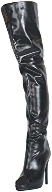 Kolnoo Femmes BFCM Bottes à talons talons talons hauts fait à la main Peep-toe Sexy cuisse bottes chaussures de modeB07845RR8NParent 53e056