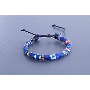 Surferarmband MADE BY NAMI - Freundschaftsarmband, Beach Bracelet, Surfer, Armband blau