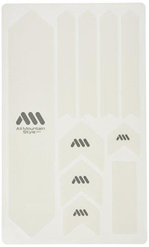 All mountain style, Kit di protezione ingranaggi bicicletta, Bianco (Transparent), XL