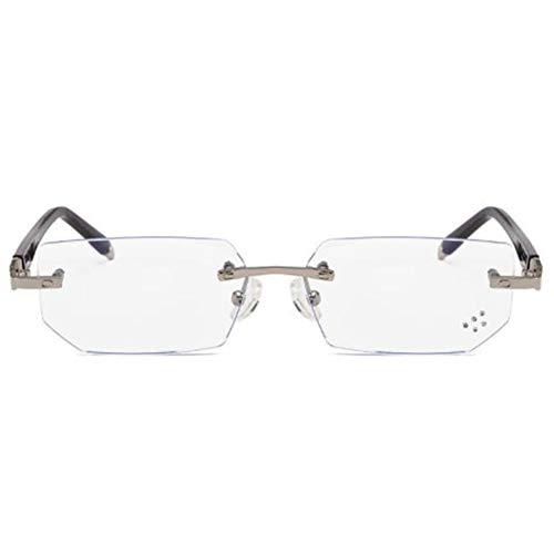 Blu-ray-Filter [Anti-Augen-Belastung] Computerbrillen, Rahmenlose Lesebrillen (transparente Gläser)