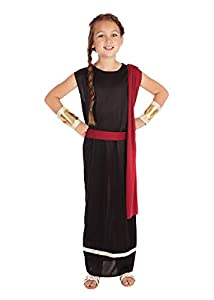 Bristol Novelties Disfraz de romana para niñas, en color rojo