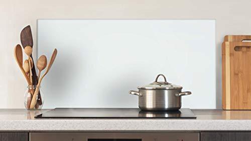 Glasvision | Küchenrückwand aus Glas | Spritzschutz | Memoboard | Herdabdeckplatte (80 x 40 cm, Basisglas Weiß)