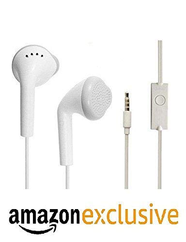Shopmart Samsung Galaxy S III CDMA Universal Headphone | Wired | MIC | Music | 3.5mm Jack Best High Quality Sound Earphones Compatible with All Andriod Smartphone, White