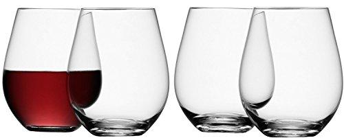 LSA - Juego de 4 vasos de vino tinto (53 cl)