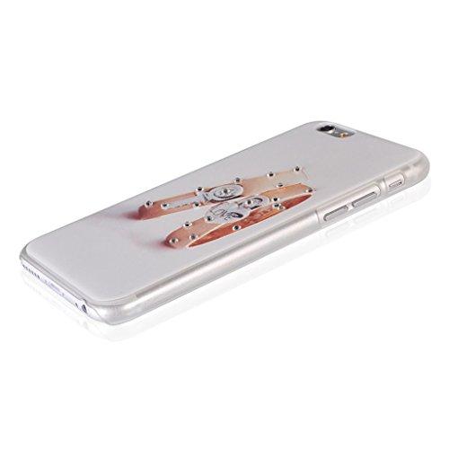 UKDANDANWEI Apple iPhone 6s Hülle Case - Bling Strass Ultra Dünn Hart PC Hülle Glitzer Rückseite Slim Etui Schale für Apple iPhone 6s -14 Bling-12