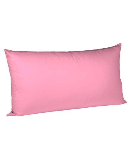 fleuresse Colours Kissenbezug, Mako Satin, rosa, 40 x 80 cm