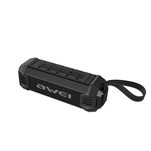 SHENGY Bass Handfree Outdoor Bluetooth Lautsprecher Mit Fm Radio, 4000Mah Power Bank NFC Wireless Speaker Ipx4 Waterproof and Dustproof,Black