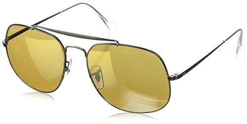 Preisvergleich Produktbild Ray-Ban RAYBAN Herren Sonnenbrille 0rb3561 004 / I3 57,  Gunmetal / Brownmirrorsilvergold