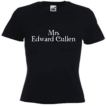 Mrs Edward Cullen Ladies Fitted t-shirt Black
