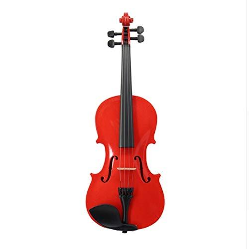 AITU Violine Case Bow Kolophonium Schulterstütze Mute Saiten Massivholz Violino Rot Akustische Violine