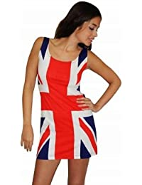 Ladies Union Jack Fitted Dress