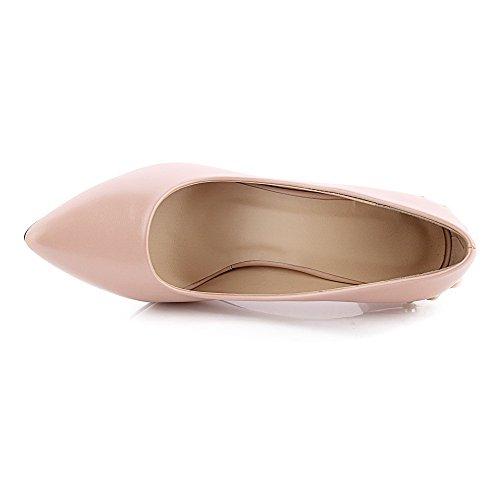 Légeres Tire Femme Chaussures Pointu Stylet Unie Fermeture Odomolor Rose DOrteil Couleur zaxwqx6