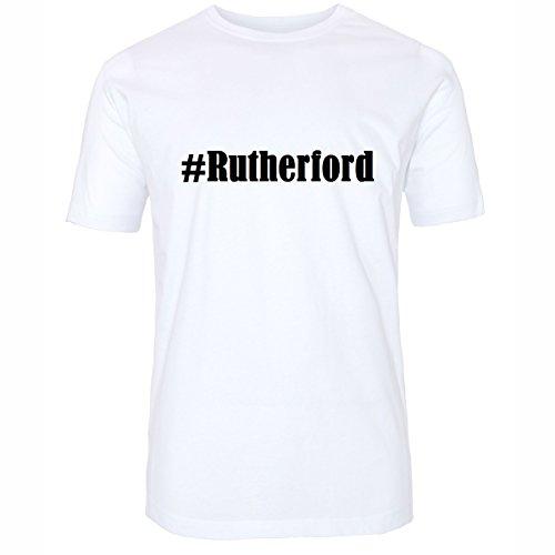 T-Shirt #Rutherford Hashtag Raute für Damen Herren und Kinder ... in den Farben Schwarz und Weiss Weiß