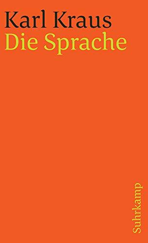 Schriften in den suhrkamp taschenbüchern. Erste Abteilung. Zwölf Bände: Band 7: Die Sprache (suhrkamp taschenbuch)
