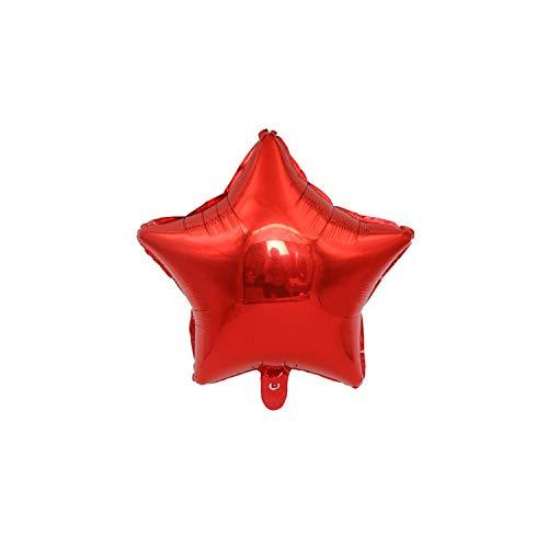 1Pc 18Zoll-Stern-Herz-Ballon-Geburtstags-Party-Dekoration für Kinder-Folien-Ballone Hochzeit Zubehör, Red1,18Inch