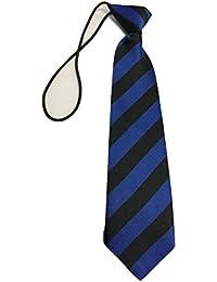 L&L Striped School Kid Children Boys wedding event prom party plain necktie tie UK