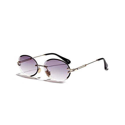 NauyGnol Randlose Sonnenbrille, unisex, Schutzbrille mit Metallbeinen, ovale Form Gr. Einheitsgröße, H4