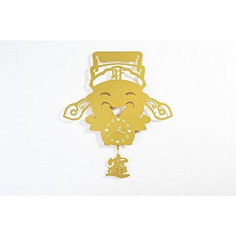 garwarm Creative decorativo único Silent reloj de pared Hierro art home bienes decoración del hogar, lujoso diseño moderno Metal mesa escritorio reloj