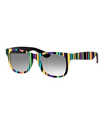 Rockacoca Unisex (Damen Herren) Sonnenbrille mit Design UV400 - Unisex sunglasses with Handpainted Stripes Design
