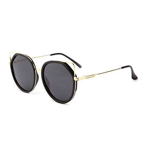HQMGLASSES Retro Cat Eye Sonnenbrillen Vintage Square Shade Frauen Cute Skinny Cat Eye Brillen,Black