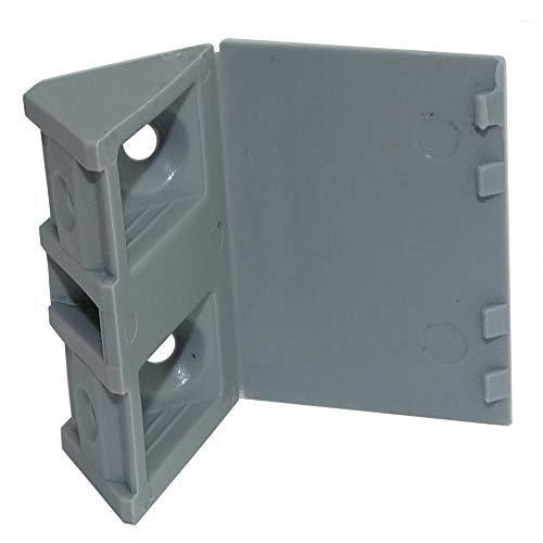 AERZETIX: 50 Escuadras de ángulo plástico triangular para ensamblaje de muebles panel...